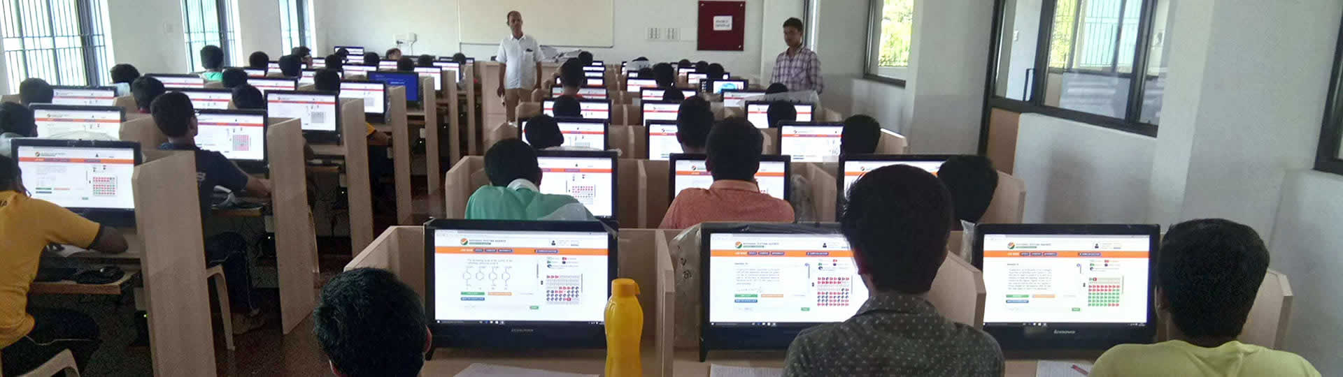 Computer based exam organized by PEB